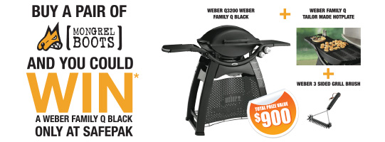 Win a Weber Q with Mongrel Boots